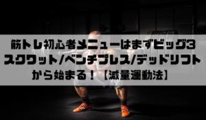 筋トレ初心者メニューはまずビッグ3(スクワット、ベンチプレス、デッドリフト)から始まる!【減量運動法】