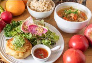 鶏豆腐ハンバーグ定食