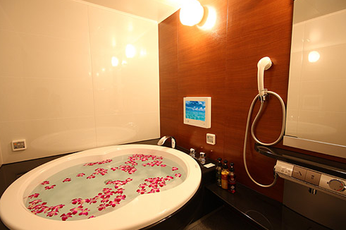 ラブホテルお風呂